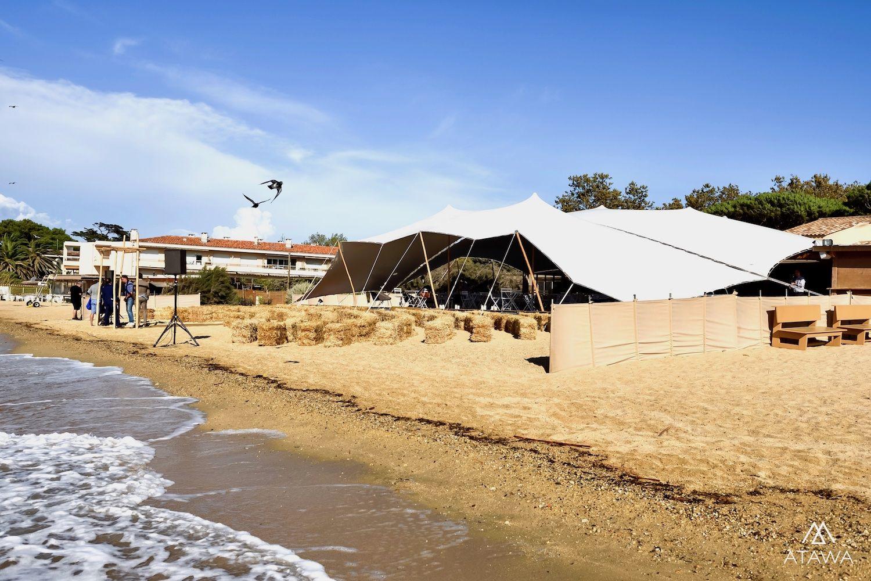 Mariage sur la plage à saint-tropez