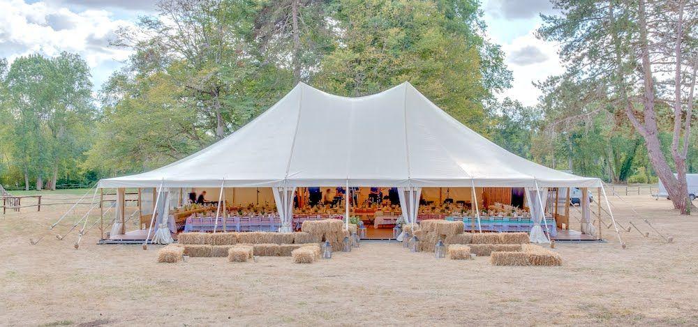 Atawa - Location de chapiteau bambou pour un mariage campagne chic