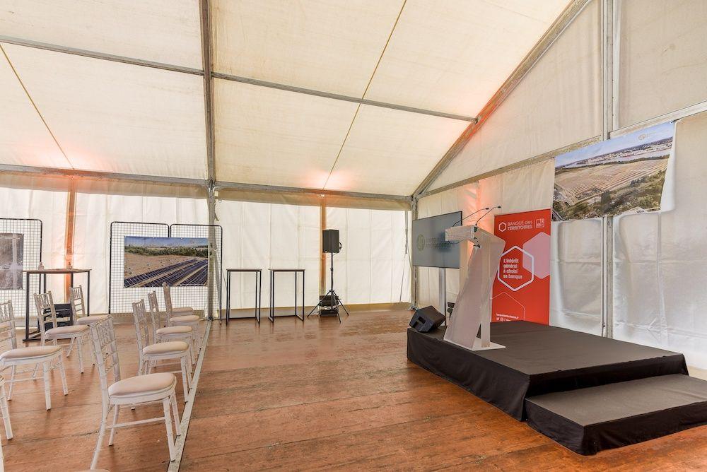 Atawa - Location de tente et mobilier pour pose de première pierre