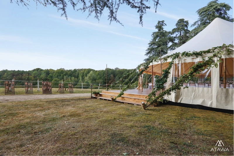 Atawa - Mariage sous un chapiteau bambou en Indre et Loire