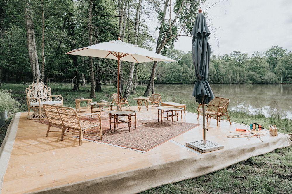 Atawa - Location mobilier rotin vintage pour mariage